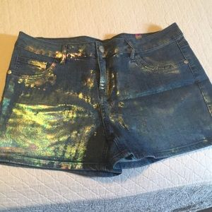 Girls Justice metallic denim shorts 18 Plus